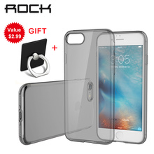 For iPhone 7 Case ROCK TPU Soft  Protection Cases Shock/Dirt proof Protection Covers Transparent Slim Back Case For iPhone 7+