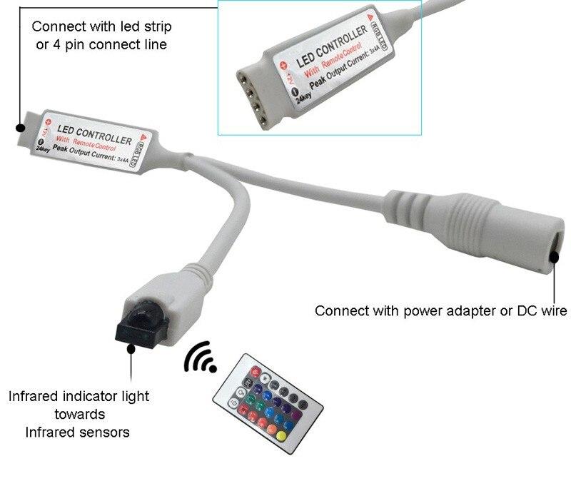 5M 5050 RGB WIFI LED Strip light Waterproof RGB 10M 15M led ribbon tape Remote WIFI Wireless Controller 12V power adapter Kit (1)
