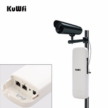 KuWfi 5G Outdoor Wireless Bridge CPE 900Mbps Wifi Repeater 11AC Wireless Router 3.5KM PTP Wifi Range for Wireless IP Camera/CCTV