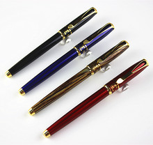 Luxury Mon classic Black Gold Clip roller ball pen Stationery Executive school office supplies writing(China)
