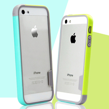 Soft Skin Protection bumper on for iPhone 5s case TPU Silicone Anti-Knock case covers for iPhone 5s se 4s 6 6S Plus case shell(China)