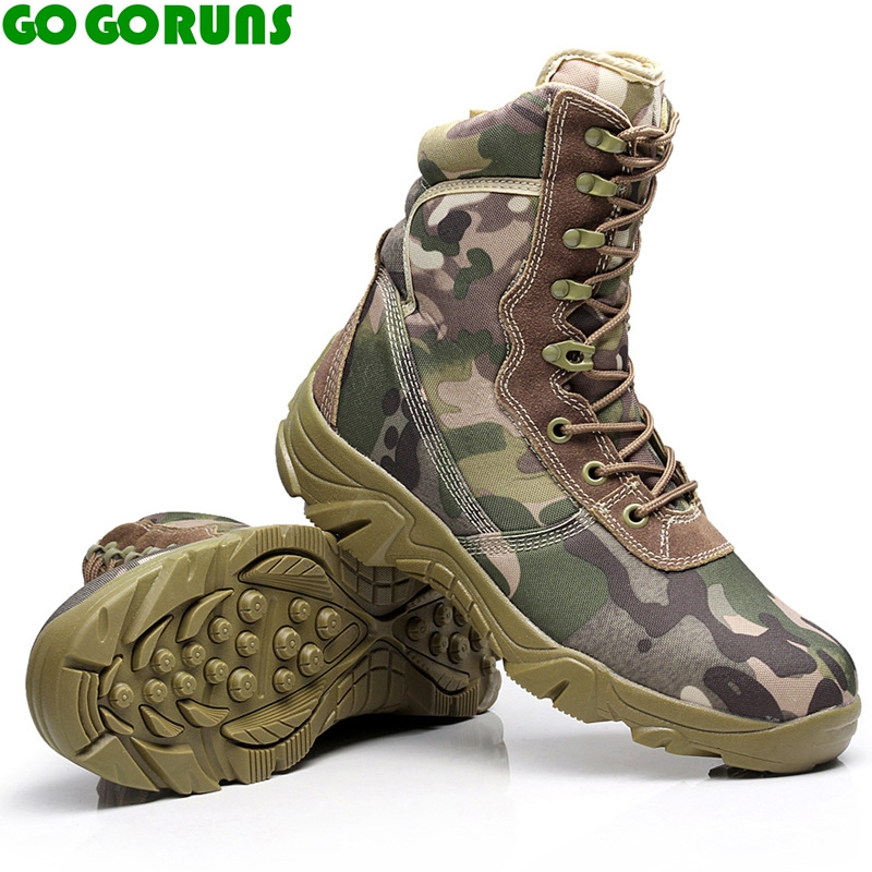 outdoor sport men hiking shoes camouflage desert boots breathable mountain hiking shoes men climbing shoes brand sneakers 334r<br>