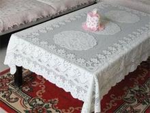 5 Size Hollow Out Cream Color Tablecloth With Lace Tablecloth Crochet Embroidered Tablecloth for Christmas Wedding Decoration(China)