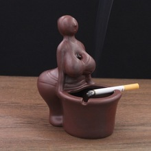 Csutom Sexy Ashtray office equipment women ashtray for house table girl ashtray for sexy lady ashtray cool home ceramics gift(China)