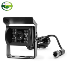 4 Pin Bus Trailer CCD 18 LED IR Night Vision Car Rear View Reverse Camera Bus Truck 12V Free Shipping