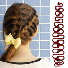 3 Colors French Hair Braiding Tool Centipede Braider Roller Hook With Magic Hair Twist Styling Maker Hair DIY Tool(China)