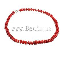Free shipping!!! 1PC 2015 Fashion Natural Coral red 7-9mm Length:17 Inch Sold Per 17 Inch Coral Necklace Women Gift Accessory