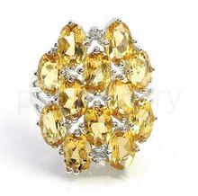 Citrine ring Free shipping Real and natural citrine ring 925 silver rings Fashion jewelry Whoelsales 0.45CT*12pcs gems