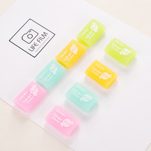 Cute Kawaii Jelly Pencil Eraser Colored Rubber For Kids Gift Korean Stationery School Supplies Free Shipping 2252