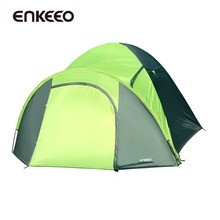Enkeeo Waterproof Camping Hiking Tents 4 Person Backpack Road Trips Fishing Mountaineering Backcountry Adventures Tents