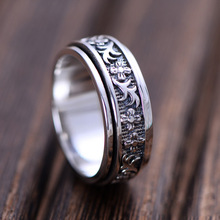 Sterling Silver Jewelry Thai Silver Restoring Ancient Ways Is Delicate Floret Grass Men And Women General Transport Ring