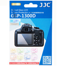 "JJC GSP-1300D 0.01"" Ultra-thin Camera Display Cover Optical Glass LCD Screen Protector for CANON 1300D/Rebel T6 /1200d/ T5"