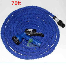 Garden hose 75ft,stretch expanding watering aluminum hose head,expandable hose,flexible watering hose 75ft(China)