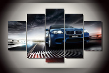 5 Pieces/set Printed BMW m5 f10 sedan Painting on Canvas Room Decoration Print Picture Canvas Decoracion Artworks Frameless