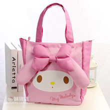 New My Melody Hello Kitty Anime Toys Cartoon Plush Handbag Children's Shoulder Bag For Girls Handbag Shopping Bag Lover Gift