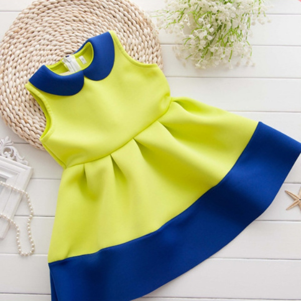 Child Baby Girl Sleeveless Pleated Cotton Dress Toddler Kid Princess Party Dress<br><br>Aliexpress