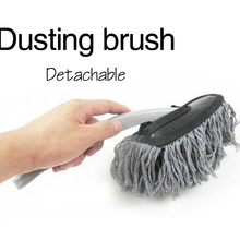 1pc Multi-functional Car Duster Cleaning Dirt Dust Clean Brush Dusting Tool Mop Gray car cleaning products Worldwide