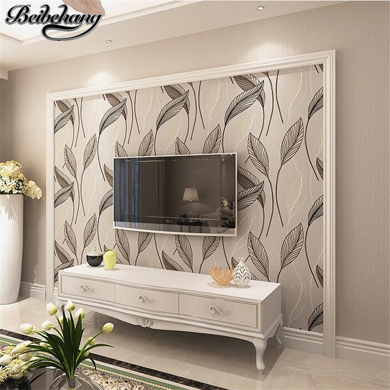 beibehang Pastoral simple wallpaper plain living room non - woven wallpaper bedroom stereo television wall decoration wall<br>
