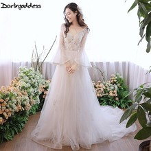 Buy Darlingoddess Sexy Lace Appliques Beach Wedding Dresses Boho Cheap V Neck Robe De Mariage African Wedding Gowns Casamento for $122.20 in AliExpress store