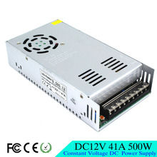 Small Volume Single Output 12V 41A 500W Switching Power Supply AC 110 220V Input to DC12V SMPS For Led Strip Lamp Light CNC CCTV