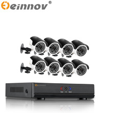 EINNOV 8CH CCTV System Wireless HD 720P AHD DVR 7PCS/8PCS 1.0MP IR Outdoor Ahd CCTV Security Camera  AHD Surveillance Kit