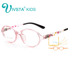 IVSTA 8801 Kids frame eyeglass Glasses kids frame boy Flexible Hinge Roun Children eyewear girls myopia prescription lenses