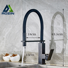 Best Quality New Kitchen Sink Mixer Taps One Handle Deck Mounted Single Hole Bathroom Kitchen Faucet Black Color
