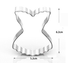 Sexy Lace Dress/underwear Shape Cookie Cutter Mould Stainless Steel Metal Mold Pastry Biscuit Cake Tools Baking Product MK1624(China)