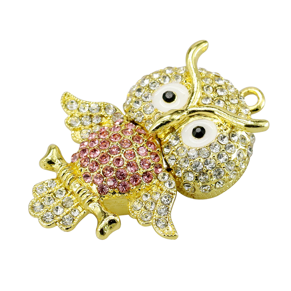 Animal USB Flash Drive Metal Diamond Owl Pendrive Nighthawk Pen Drive 4GB 8GB 16GB 32GB 64GB USB Memory Stick Gift With Necklace 29