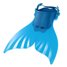 Kid Child Mermaid Flippers Diving Swimming Fins Scuba Swim Foot Flippers Surf Fins Water Sports Shoes Snorkeling Diving Blue