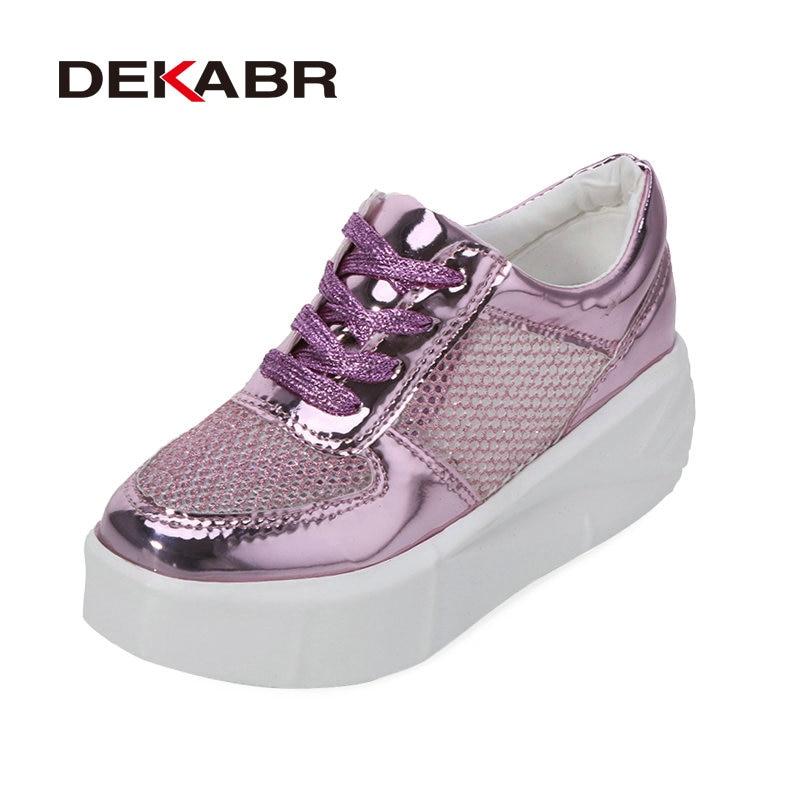 New Arrival 2017 Brilliant Fashion Women Flats Shoes Warterproof Lace up High Platform Creeper Shoes Woman Flat Platform Shoes<br><br>Aliexpress