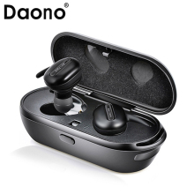 Buy DAONO TWS Invisible Mini Headphones 3D Stereo Hands-free Noise Reduction Bluetooth Headset Wireless Earphones Power Bank box for $21.53 in AliExpress store