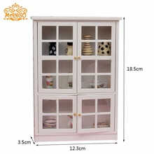 1:12 Dollhouse Miniature Furniture Kitchen Cabinet Cupboard Display Shelf Wood Free Shipping(China)