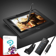 "Parblo Coast10 10.1"" Graphic Drawing Monitor+CLIP STUDIO PAINT PRO (Manga Studio)+Glove+4 ports USB3.0 Hub+Screen Protector(China)"