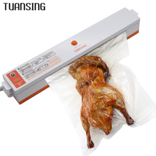 RU Shipping TUANSING Vacuum Sealer Machine 220V Household Food Vacuum Sealer Packaging Machine Film Sealer Including 15pcs Bags(China)