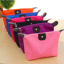 1Pcs Candy Colors Storage Bags Waterproof Cosmetic Bag Simple Fashion Girls Women Make Up Tool Storage Bag