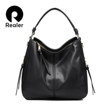 REALER brand handbag women shoulder bag female casual large tote bags high quality artificial leather ladies hobo handbag(China)