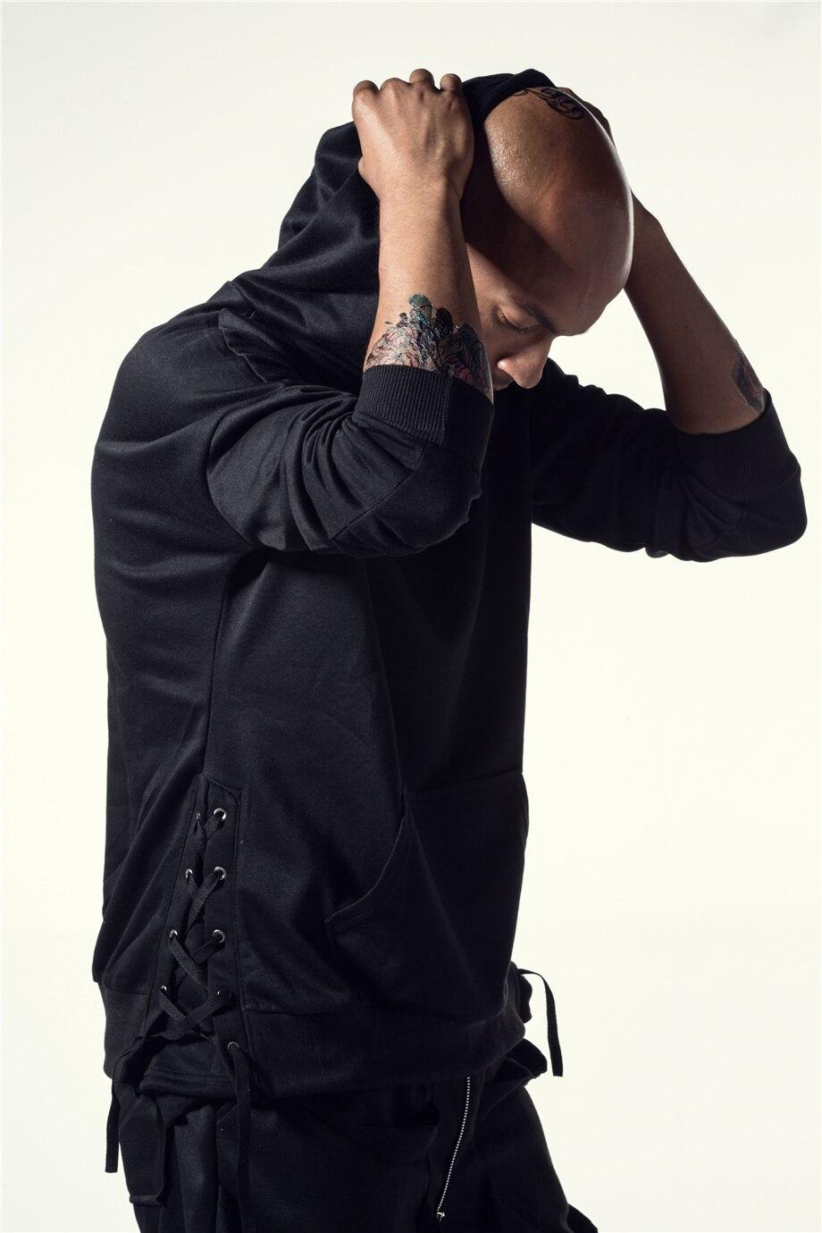 Una Reta Brand New Design Hoodie Men Fashion Sweatshirts Bandage Design Hip-Hop Style Plus Size M-5XL Pullover Sweatshirts Men 13