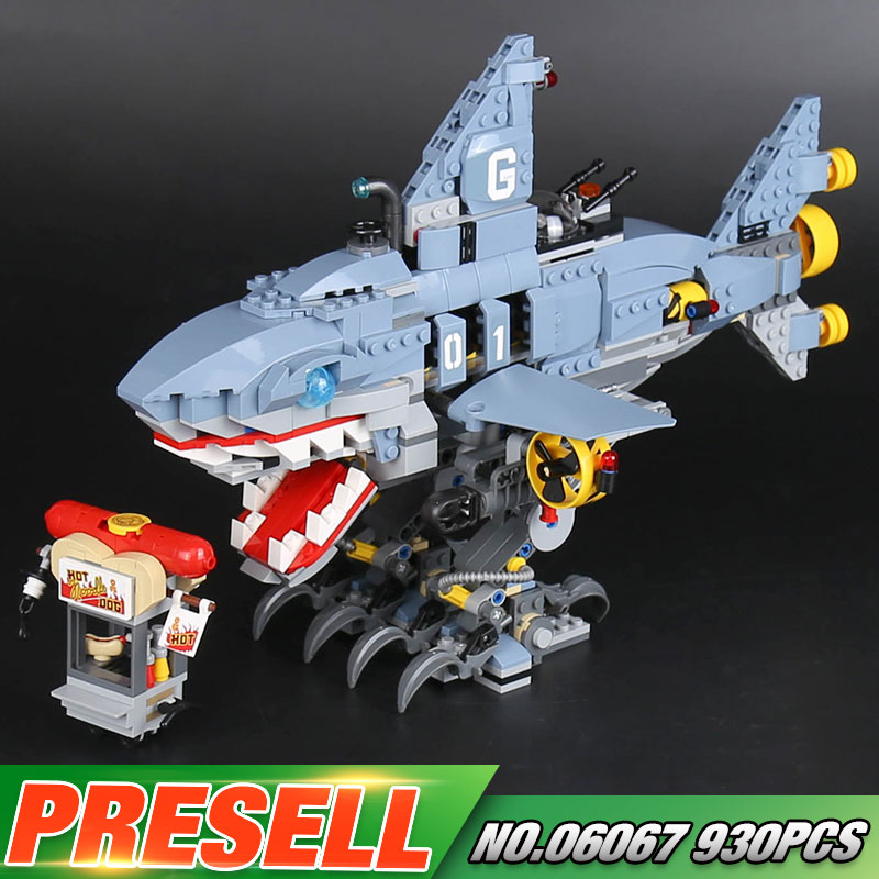 Lepin 06067 Movies Series The Big Shark LegoINGlys Model Sets 70656 Elves NinjagoINGly Buildings Blocks Bricks Funny Toys<br>