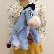 Free Shipping 36cm 14'' Original Blue Eeyore Donkey Stuff Animal Cute Soft Plush Toy Doll Birthday Children Gift Collection