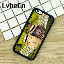 LvheCn TPU Phone Cases For iPhone 6 6S 7 8 Plus X 5 5S 5C SE 4 4S ipod touch 4 5 6 Cover Guinea Pig Cute Animal Print Pattern(China)