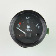 "2"" 52mm car Fuel level Gauge r with Fuel Sensor White LED Ligh Automotive Gauges 12V Auto gauge Meter Free shipping(China)"