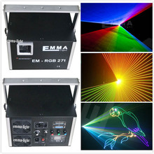 Holiday Festival Event Party 1W Colorful DJ Pub Laser Lighting 3D Laser Projector(China)