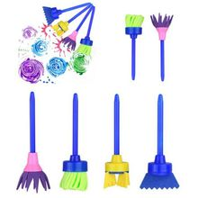 4Pcs/Lot Kids Drawing Toys DIY Painting Tools Creative Flower Stamp Sponge Brush Set Art Supplies for Children(China)