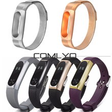 Buy COMLYO Silicone Rubber Plastic Xiaomi mi2 Band MiBand 2 Smart Bracelet Replac Strap Wristband Metal Frame Case Cover for $8.74 in AliExpress store