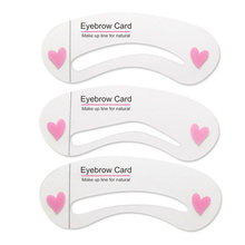 3Pcs/Set Hot Template Eyebrow Stencils Shapes for Painting Card Eyes Brow Makeup Stencil DIY Drawing