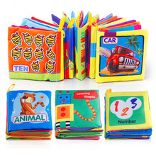 Baby Toys Early Intelligence Development Cloth Book Soft Rattles Unfolding Activity Books Toys For Baby Kids 0-12 Months