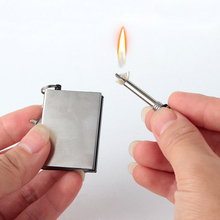 Hight Quality Stainless Steel Ten Thousand Times lighter Lighter Matches Flint Without Kerosene 5 PCS(China)