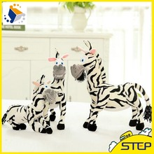 2016 Free Shipping 3D Simulation Zebra Plush Toy Cute Lifelike Stuffed Anial Toy Birthday GIfts for Children ST345(China)