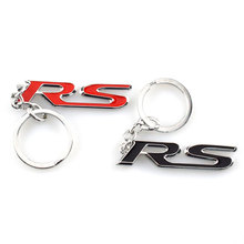 Red Black Metal Rs Car Grille Styling Emblem Badge 3D Car Stickers Refitting Decal For Ford Focus Mondeo Accessory Car-Styling